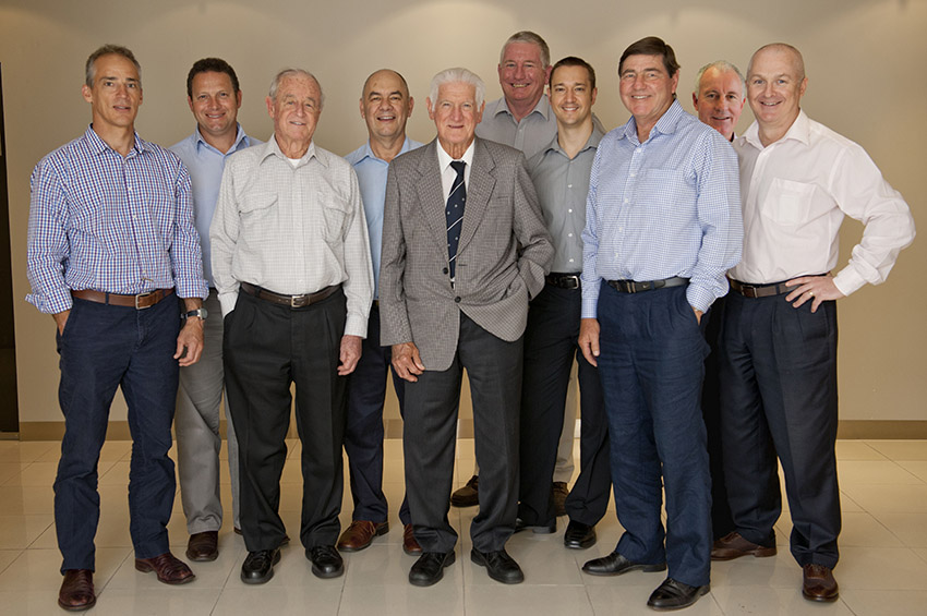 BOH Dental Founders, Dr Keith Francis Brain, Dr John Vincent O'Brien & Dr Richard William Holzgrefe (front row), and our current dentists.