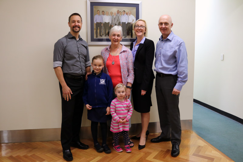 Sarah & Family with Dr Ian Davies & Dr Mark Elliott (Brisbane Dentists)